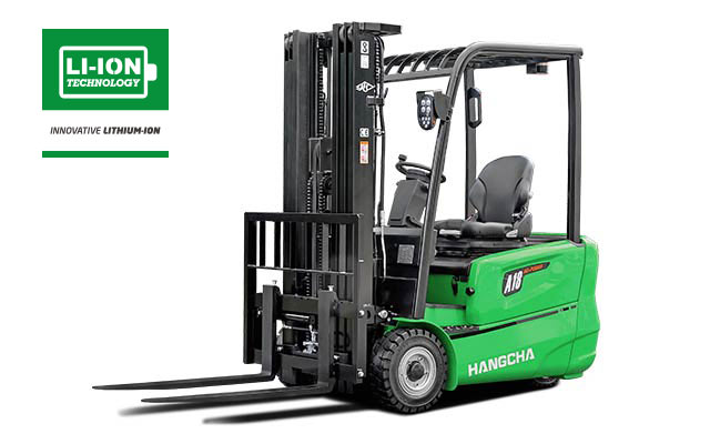 3-Wheel Electric Forklift With Lithium-ion 3,200-4,000lbs