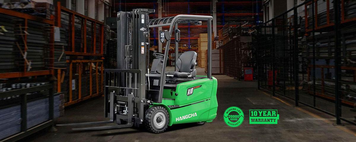 Chariot élévateur à trois roues à batterie au lithium-ion HANGCHA / 3200 lb à 4000lb