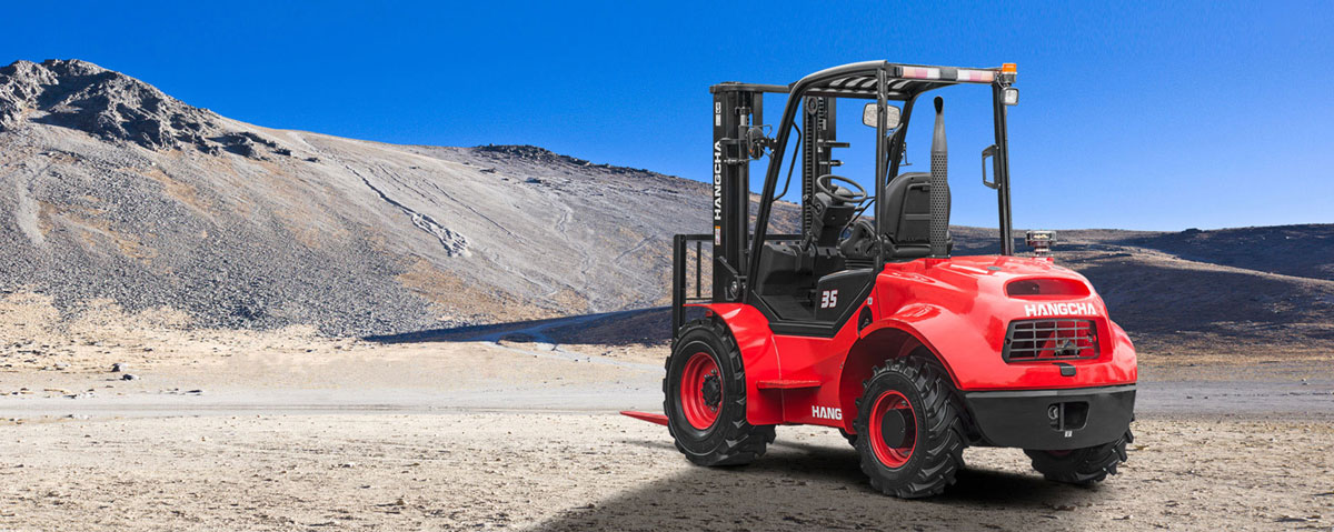 Chariot élévateur tout-terrain à quatre roues motrices HANGCHA / 5000 lb à 7000lb