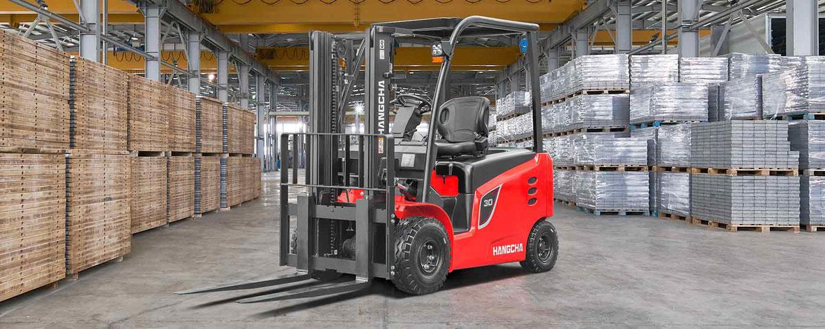 Chariot élévateur électrique avec pneus à bandage creux HANGCHA / 4000 lb à 7000lb