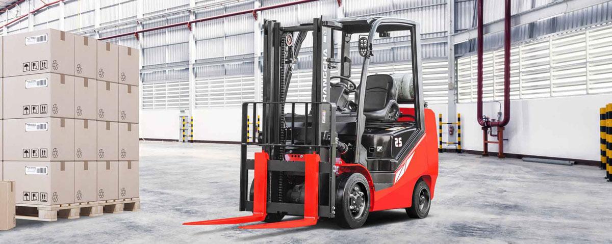 Chariot élévateur à moteur à combustion interne avec pneus à bandage plein HANGCHA– 3000lb à 6500lb