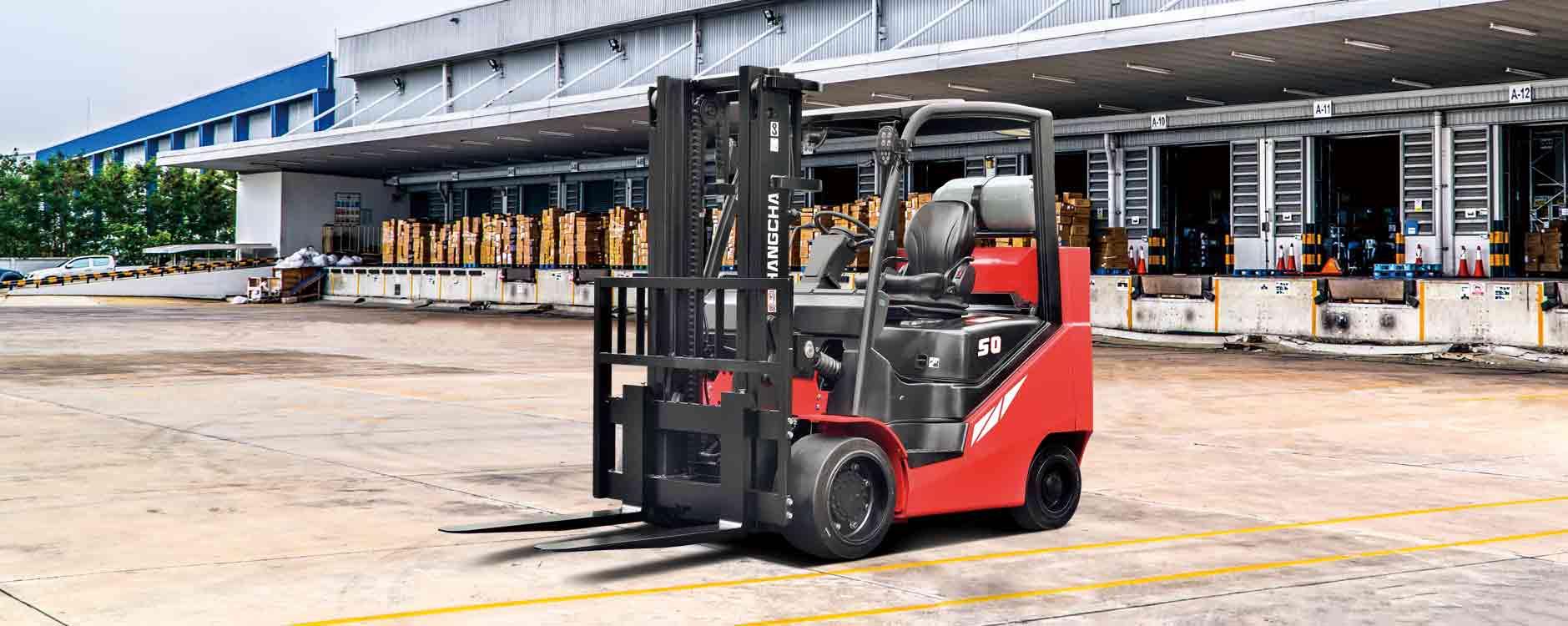 Chariot élévateur à moteur à combustion interne avec pneus à bandage plein / 8000lb à 12000lb