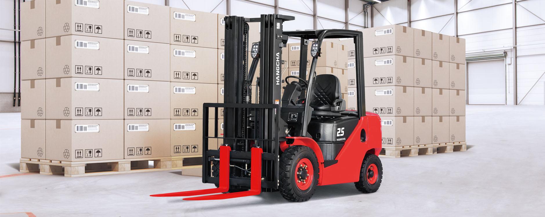 Chariot élévateur à moteur à combustion interne avec pneus à bandage creux HANGCHA / 3000 lb à 7000lb
