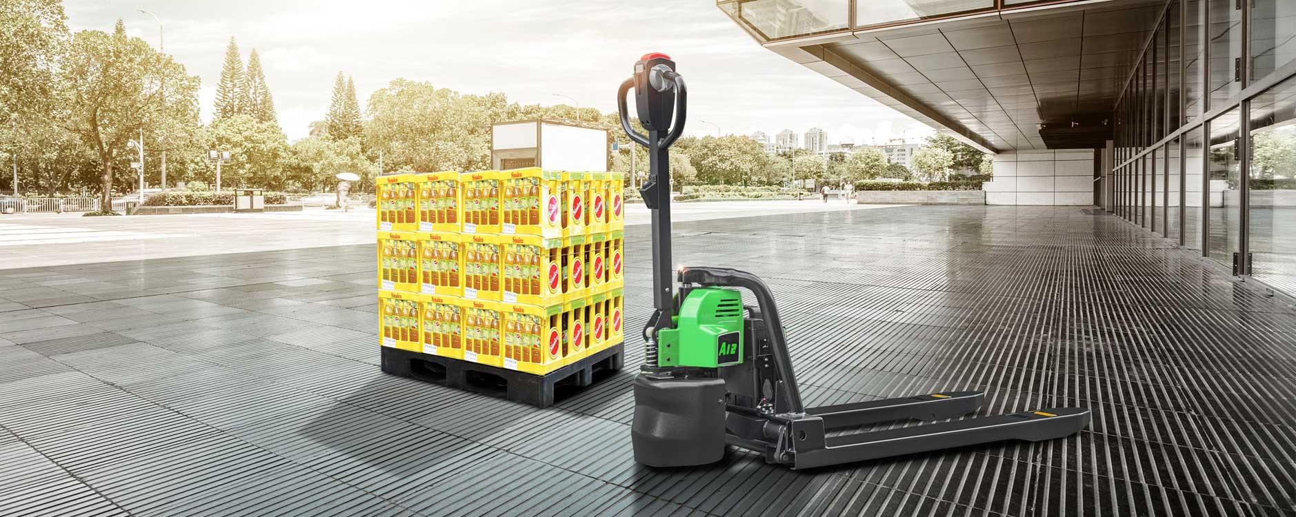 Light Duty Only Mini Walkie Pallet Truck Li-Ion 2,500lbs